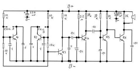 bfo metal detector circuit diagram bfo metal detector circuit measuring and test circuit