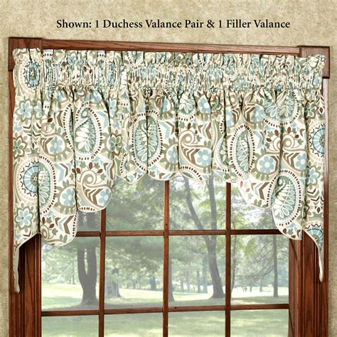 window valances paisley prism duchess window valances