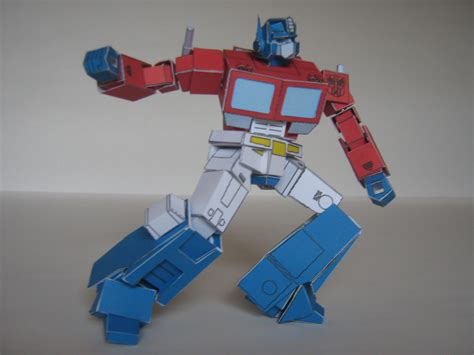 Transformer Papercraft - g1 optimus prime papercraft by avon wulongti s words of wit
