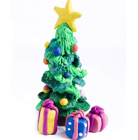 193 rbol de navidad de plastilina con regalos