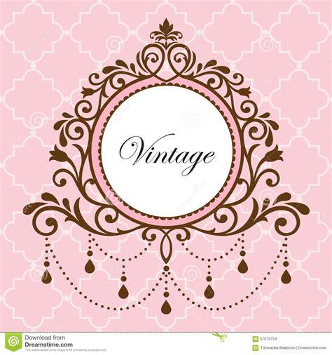 chandelier frames chandelier vintage frame stock illustration image of