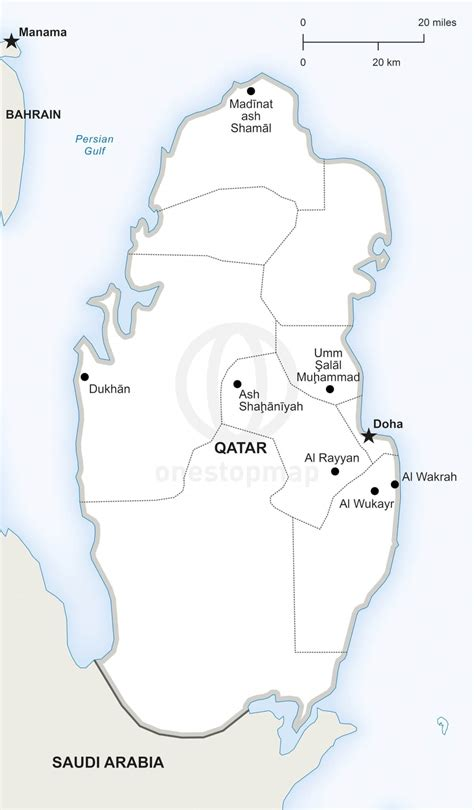 political map of qatar vector map of qatar political one stop map