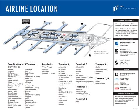 los angeles airport international map