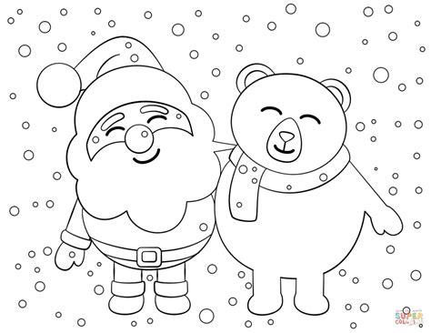 santa claus coloring page santa and coloring page free printable coloring pages