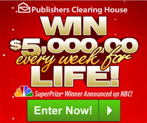 Who Won Publishers Clearing House 5000 A Week For Life - enter the publishers clearing house sweepstakes who said nothing in life is free