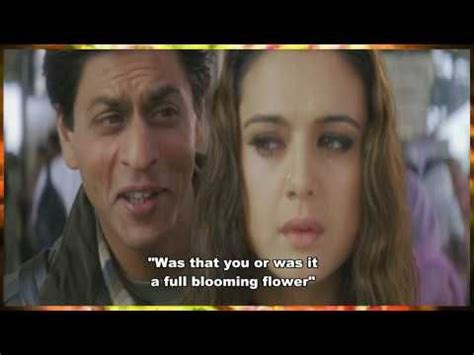 film india veer zaara subtitle indonesia sharukh khan everyone must listen to this song english