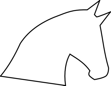 printable horse stencils cliparts co