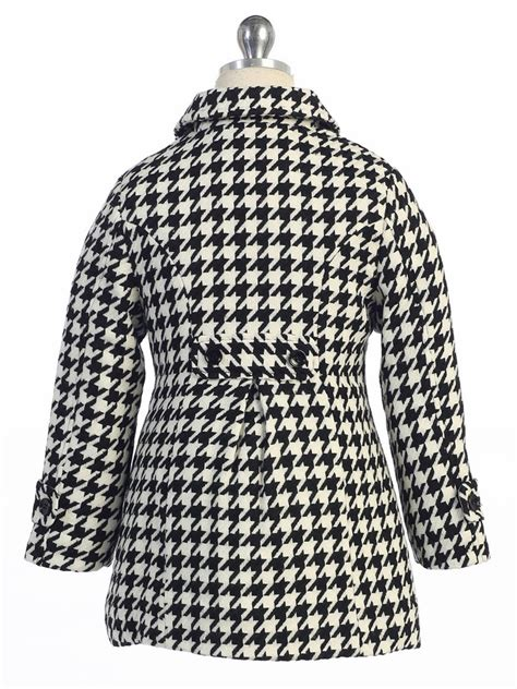 houndstooth pattern clothes black white houndstooth pattern kids coat