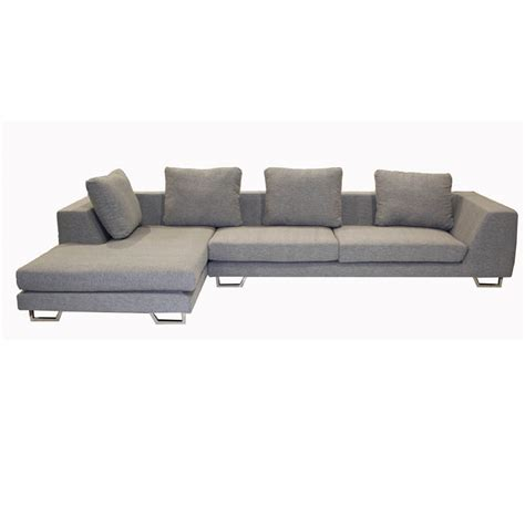 Wholesale Interiors 2 Piece Twill Sofa Sectional Grey