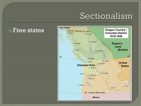 manifest destiny and sectionalism ppt manifest destiny american territorial expansion 1803