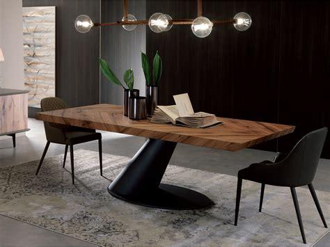 tavolo italiano tavolo da pranzo rettangolare in legno thor fisso by ozzio
