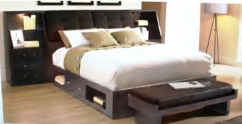 Bed Frame With Shelves Furniture Black Platform Bed Frame With Storage
