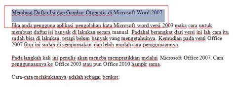 membuat daftar gambar word 2007 membuat daftar isi dan gambar secara otomatis di microsoft