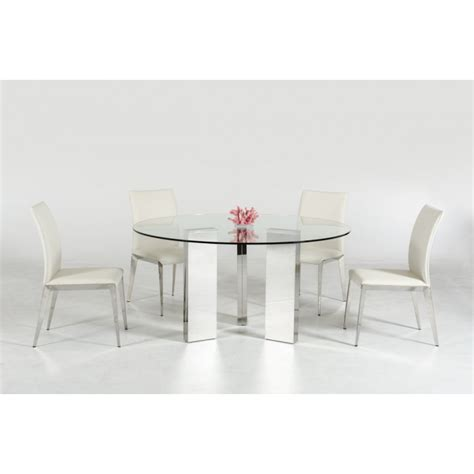 modern bench dining table modrest colin contemporary round glass dining table