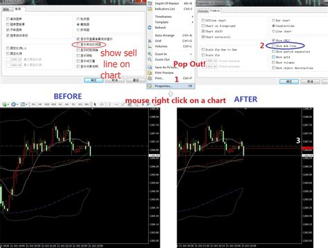 bid price how to set ask price label within the chart price chart