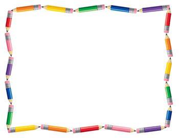 pencil clipart border – 101 clip art