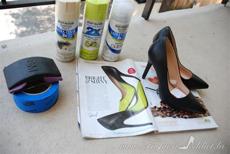 how to paint shoes diy jimmy choo ombre shoes kier couture