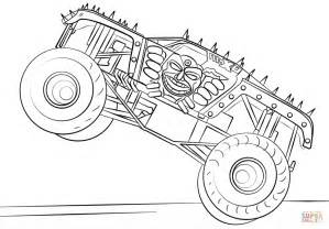 max monster truck coloring free printable