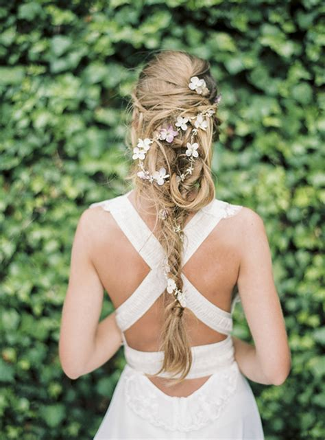 Wedding Hairstyles With Braids And Flowers by Fresh Wedding Hair Idea Braids With Flowers My