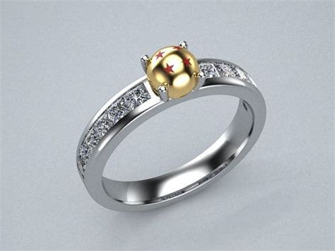 Wedding Ring Z 3 by Large 9mm Powerball Cz Engagement Ring In 14k Yellow