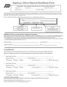 employee direct deposit form template free bank forms pdf template form