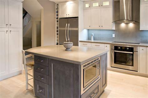 Slate Grey Kitchen Cabinets Newport Oyster Slate Grey Maple Transitional Kitchen Toronto By Aya Kitchens