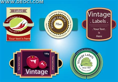 label design cdr free download vintage fruit juice label design template free download