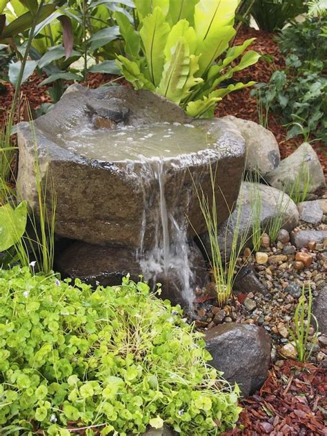 water feature designs top 17 brick rock garden waterfall designs start an