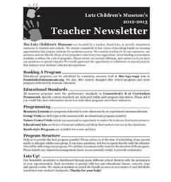 free templates for newsletters for teachers newsletter template 8 psd pdf formats