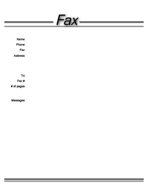 generic fax cover letter free fax cover sheet for mac