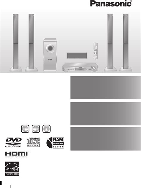 panasonic home theater system sc ht744 user guide