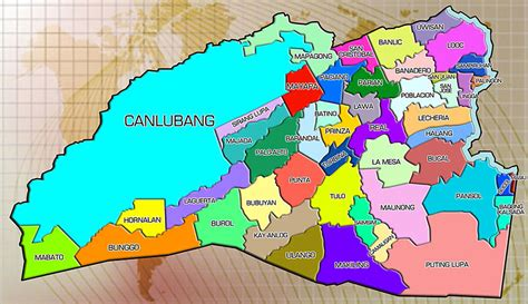 san jose tagaytay map populated places in laguna province
