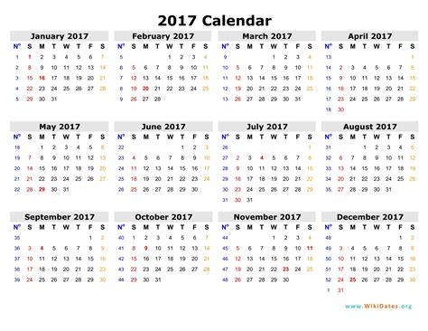 printable calendar by week 2017 weekly calendar 2017 weekly calendar template