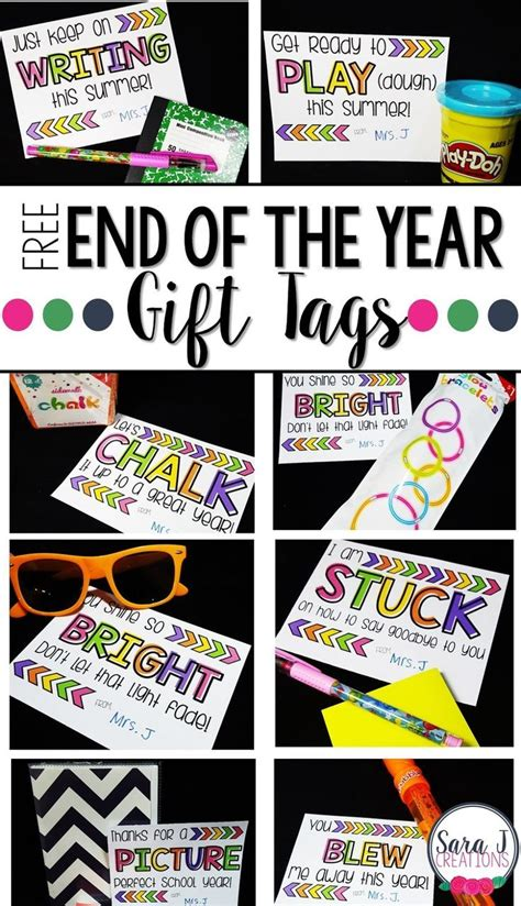 10 free end of the year student gift tags gift tags