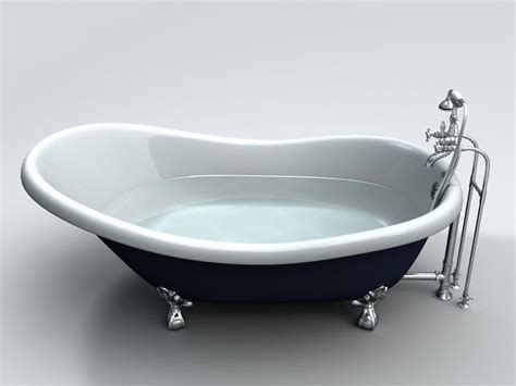 bathroom bucket 3d slipper clawfoot bathtub