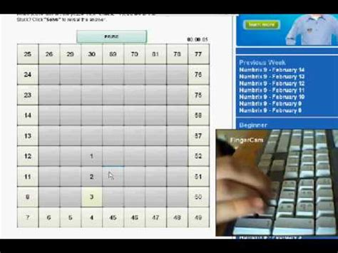 printable numbrix puzzles parade numbrix speedrun feb14 youtube