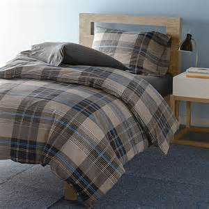 brown plaid duvet cover bainbridge plaid duvet cover set the company store