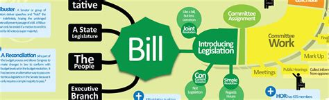 how a bill becomes a flowchart for how our laws are made infographic