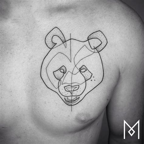 minimalist single line tattoos by iranian german artist