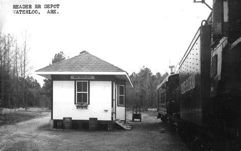 waterloo arkansas view of reader railway depot real