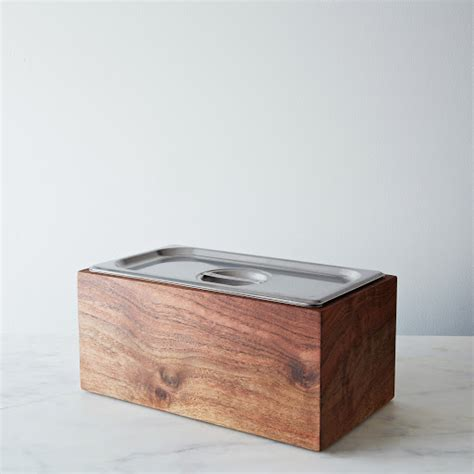 kitchen bench compost bin noaway countertop walnut compost bin on food52