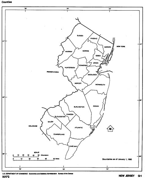 printable map jersey new jersey free map
