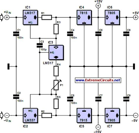 current limiting resistor power supply adjustable current limit for dual power supply circuit diagram