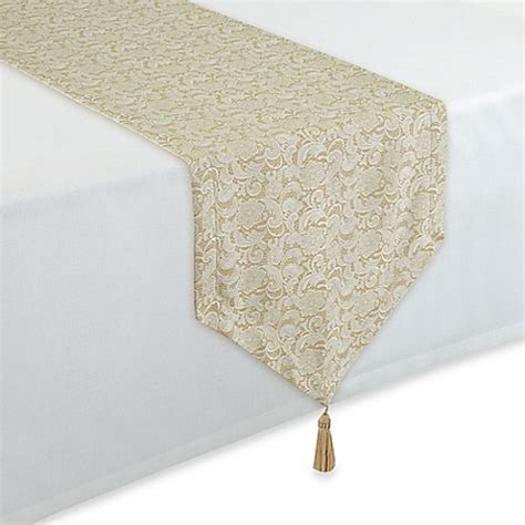 90 inch table runner buy waterford 174 linens lucida 90 inch table runner in white
