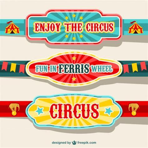 printable circus banner circus banners design vector free download