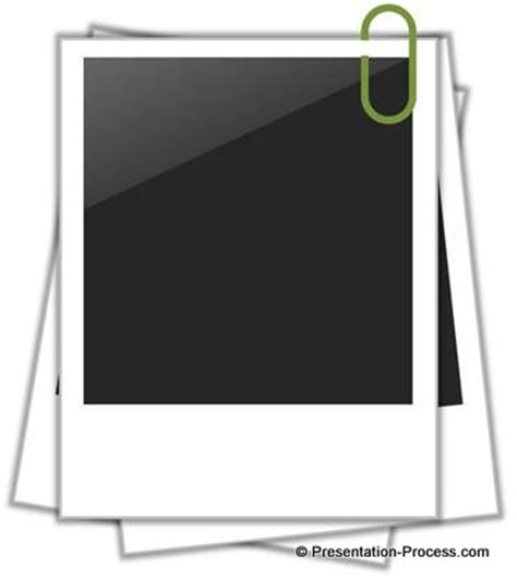 easy polaroid picture frame in powerpoint