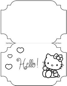 printable hello kitty card template printable treats com