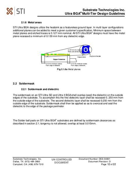 layout guidelines for bga ultrabga multi tier design guides rev d 040102 pdf