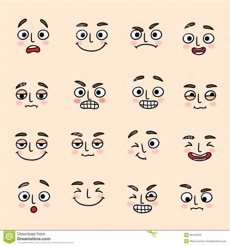 expression cartoons illustrations vector stock images facial mood expression icons set stock photos image