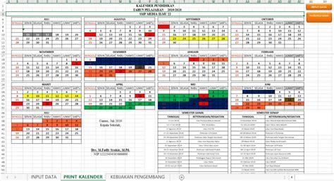 kalender pendidikan  siap edit  mudah mediailmu